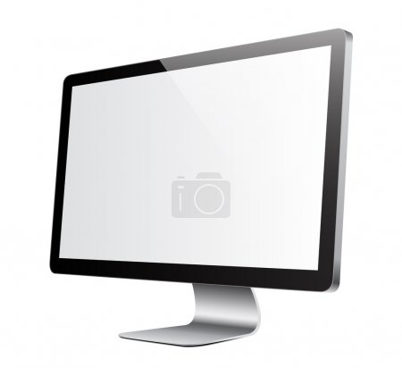 Monitor white picture