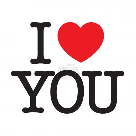 I love you with a big red heart for