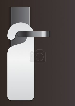 Illustration for Illustration of a door handle with virgin label - Royalty Free Image