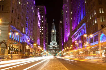 Photo for Philadelphia streets by night - Royalty Free Image