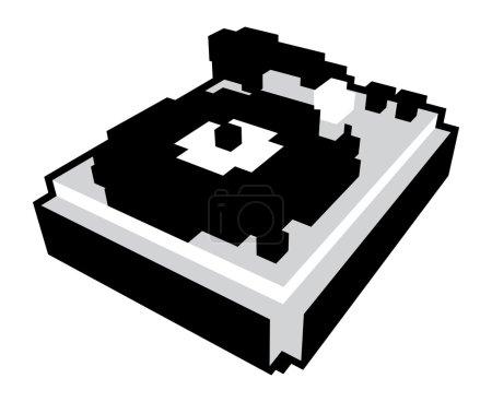 3D pixel turntable
