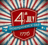 Vector independence day badge poster - retro vintage version