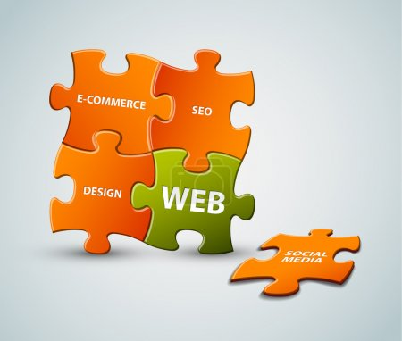 Vector web solution illustration
