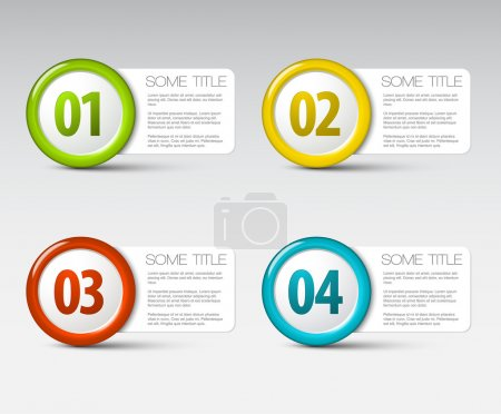 Illustration for One two three four - vector progress icons for four steps - Royalty Free Image