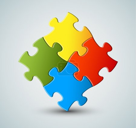 Vector puzzle, solution background