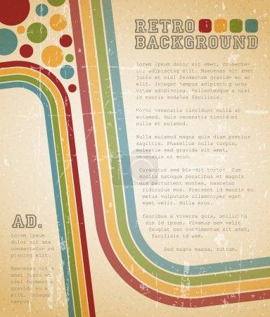 Ilustración de Vector grunge retro fondo con lugar para el texto - Imagen libre de derechos