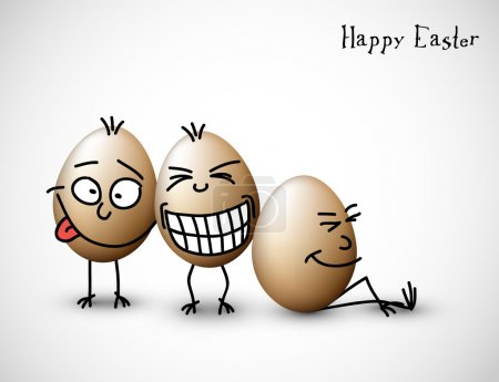 Illustration for Funny easter eggs - Happy Easter Card - Royalty Free Image