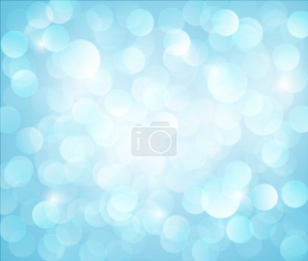 Light blue Vector bokeh background