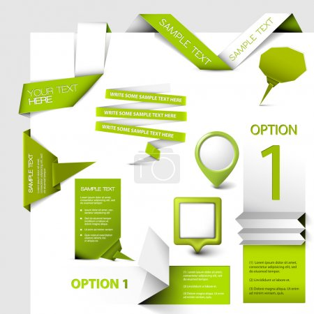 Illustration for Set of green Vector web elements - Royalty Free Image