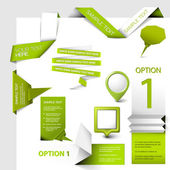 Set of green Vector web elements