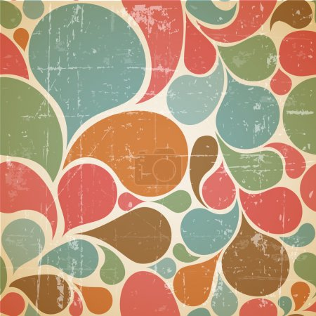 Illustration for Vector Colorful abstract retro pattern made from various spatters - Royalty Free Image