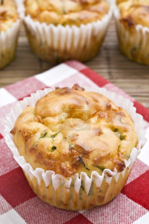 Freshly baked spinach and cheese muffins