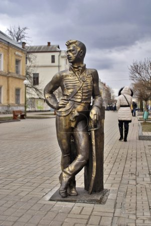 Sculpture in memory of brave hussars of the Sumy h...