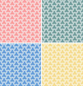 Set of four vector geometric seamless patterns