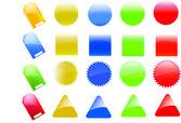 Insieme di elementi web lucido, dai colori vivaci. perfetto per