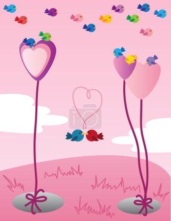 Sweet Valentine birds