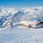 The alpine skiing resort in Austria Zillertal...
