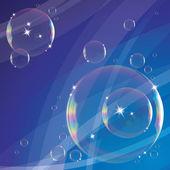 Pozadí s mýdlové bubliny