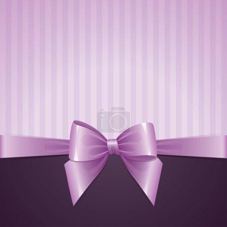 Illustration for Violet background with bow, vintage design, vector eps-10 - Royalty Free Image
