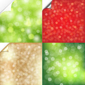 Bokeh Background With Corner Set