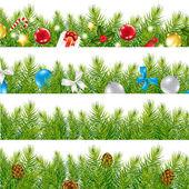 Border With Christmas Tree Set
