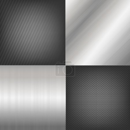 Set Of Metal Texture Background