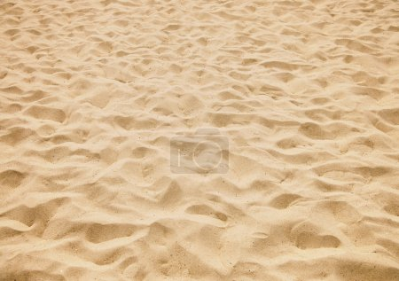 Photo for Texture of yellow sand on the beach - Royalty Free Image