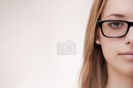 Cute girl wearing glasses