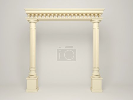 Element of classical architecture portal