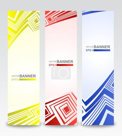 Colorful vertical banners. Vector illustration