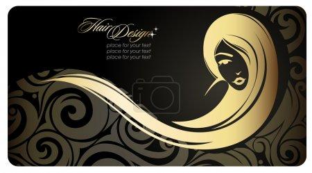 Illustration pour Golg fille aux cheveux longs. Illustration mode. Eps10 - image libre de droit