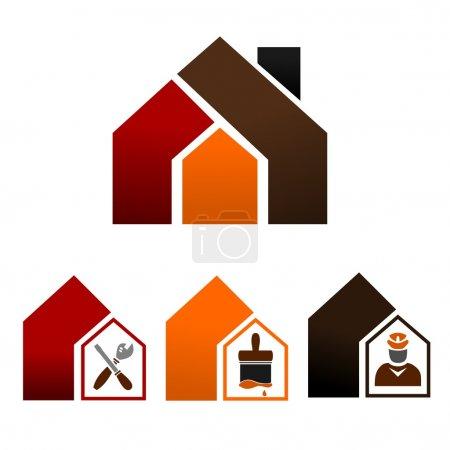 Illustration pour Illustration ensemble d'icônes pour la décoration de la maison et bricolage - image libre de droit