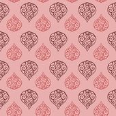 Seamless floral paisley pink vintage pattern tile
