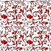 Illustration design element of a seamless valentines pattern tile