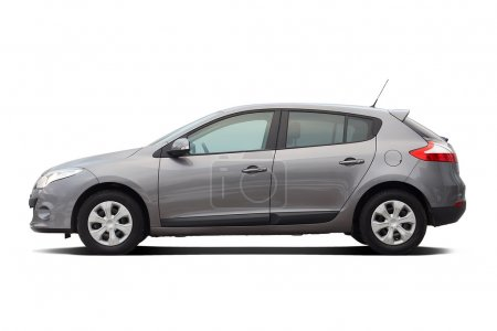 Modern hatchback isolated on white...