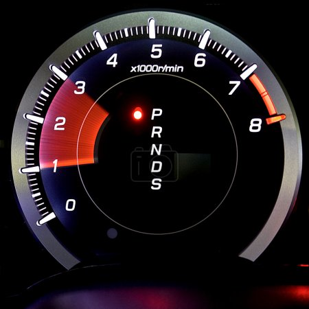 Tachometer isolated