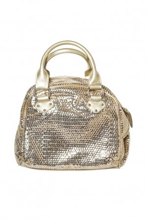 Golden women handbag