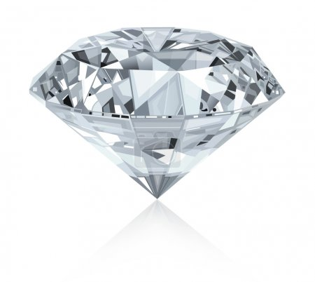 Classic and realistic diamond.Vector....