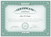 Detailed certificate