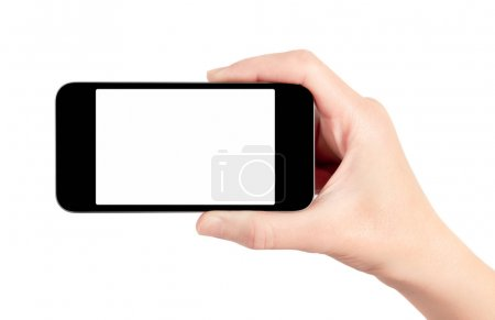 Mobile Smart Phone In Hand Isolated