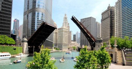 Photo for Downtown Chicago Waterfront, Illinois USA - Royalty Free Image
