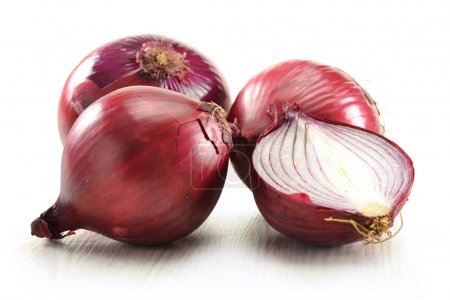 Photo for Onion isolated on white - Royalty Free Image