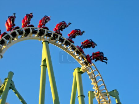 Photo for A Roller Coaster in Amusement Park - Royalty Free Image