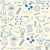 Hand drawn seamless science icons changeable background vector eps10