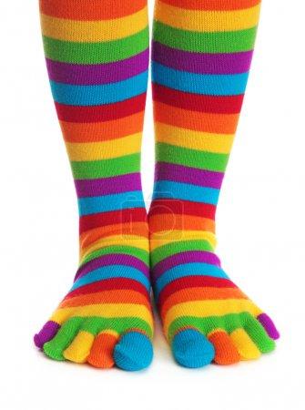 Colorful striped socks