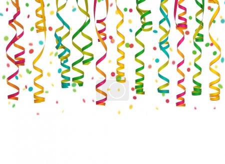 Photo pour Banderoles colorées isolées sur fond blanc - image libre de droit