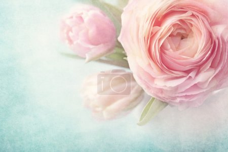 Photo for Pink flowers in a vase - Royalty Free Image
