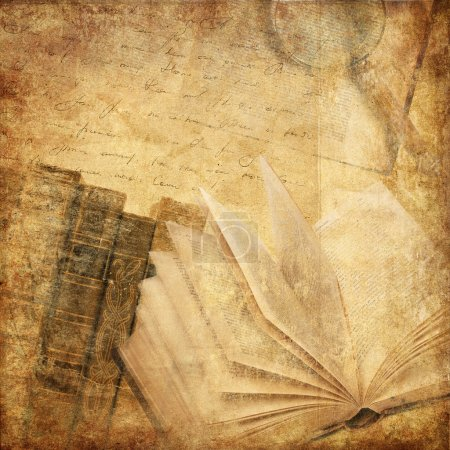 Photo for Vintage background with old books - Royalty Free Image