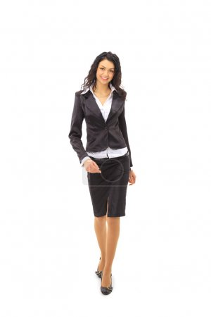 Full length image of a business woman going