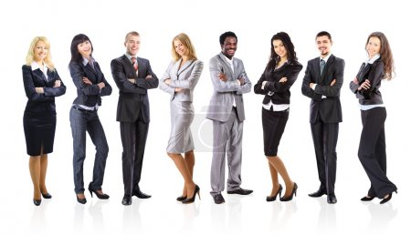 Group of business isolated on white